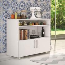 Balcão de Cozinha Multiuso 2 Portas Móveis Percasa Branco -