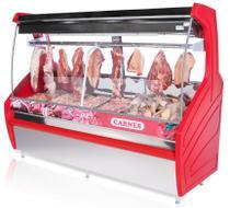 Balcão Expositor de Carnes Vidro Curvo 2,00m PECCP200 Polar -