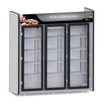 Balcão Expositor Frios e Laticínios Plus 3 Portas ASFL3PP - Refrimate Preto 220V -