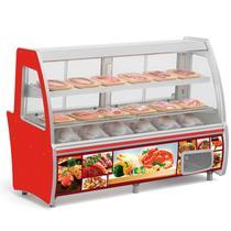 Balcão Frigorífico Açougue para Carnes e Aves GBMC-210 VM Vermelho Gelopar 955 Litros 2.10m -