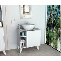 Balcão Gabinete Para Banheiro Slim Branco Appunto -