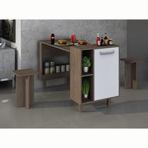 Balcão mesa com nichos e armário Decari 31041 - Palmeira