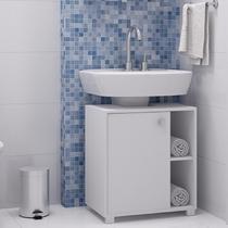 Balcão Para Banheiro 1 Porta 1 Prateleira Bbn 01 - Branco - Brv Móveis