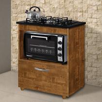Balcão  para Cooktop e Forno Smart Espresso Móveis Rovere -