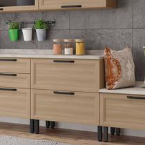Balcão para Cozinha com Tampo 1 Porta 1 Gaveta Baunilha Thela Salina -