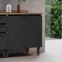 Balcão para Cozinha com Tampo 2 Portas Hibisco Telasul Aveiro/Grafite -