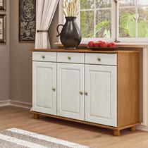 Balcão para Cozinha Linha Rubi Teka/Branco Lavado 03 Portas e 03 Gavetas Madeira Maciça Pinus - Finestra -