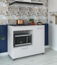 Balcão para fogão cooktop 4 bocas manu móveis paraná -