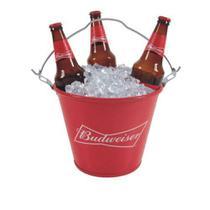 Balde Budweiser com alça e abridor de garrafa - Importação