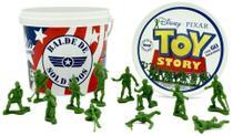 Balde com 60 soldados toy story toyng -