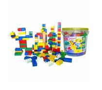 Balde De Blocos De Montar Com 156peças Brinquedo Educativo - Alfem Plastic