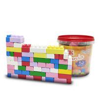Balde De Blocos De Montar Com 52 Peças Brinquedo Educativo - Block Mania