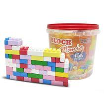 Balde de Blocos para Montar com 156 peças - Alfem Plastic
