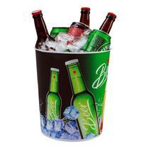 Balde de Gelo Decorados Beer p/ Bebidas 7L Usual Utilidades -