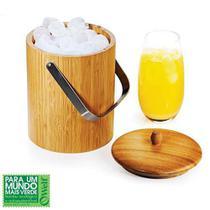 Balde De Gelo Madeira Bambu 1,65 Litros Welf  21,5x15cm -