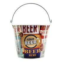 Balde de Gelo p/ Bebidas c/ Alça/Abridor  Cold Beer 7,6 Litros - Imporiente