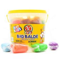 Balde De Massinhas Com 30 Unidades Acrilex Big Balde -