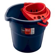 Balde de Plástico 9 litros com Escorredor - Atlas AT2027 -