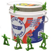 Balde De Soldadinhos Toy Story Plástico 60 Unidades Iguais dos Filmes A partir de 3 Anos Disney Pixar Toyng -