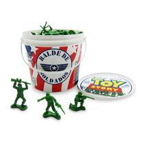 Balde de Soldados - 60 peças - Disney - Toy Story - Toyng -