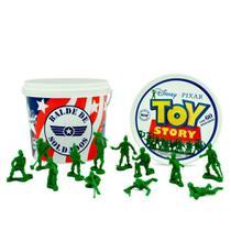 Balde de soldados toy story miniatura 60un - toyng -