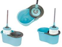 Balde Giratório Spin Mop 360 Alfatec 1 Refil Limpeza Prática -
