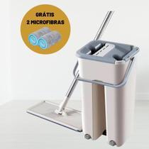 Balde Limpador Multiuso Maxi Mop flat Wash & Dry GH700 + Grátis 1 Refil de Microfibra - Globalmix