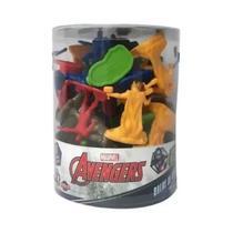Balde Marvel Os Vingadores 40 Miniaturas 5 cm 3+ 28423 Toyng -