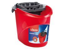 Balde Mop Plástico com Espremedor Vermelho Vileda  - 10L Super Cubo