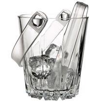 Balde para Gelo com Pegador Pasabahçe em Vidro / Plástico - Linha Karat - Transparente - Pasabahce