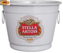 Balde para gelo em alumínio 6 litros adesivado Stella Artois - Redar