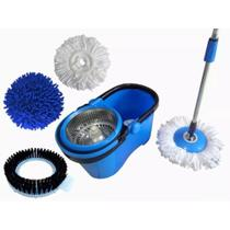Balde perfect mop pro 360 inox c/3 refis -