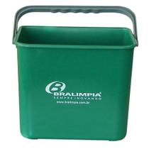 Balde plástico 4 litros com alça verde - Bralimpia