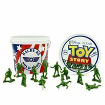 Balde Soldados Toy Story 60 Soldadinhos Guerra - Toyng