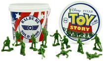 Balde Soldados Toy Story - Plastico 12 Pecas TOYNG - Pixar