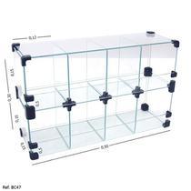 Baleiro Expositor Modulado em Vidro - 0,50 x 0,30 x 0,15 - Tatinet