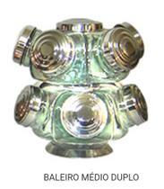 Baleiro Giratório Médio Duplo na cor prata - Raiar da Aurora