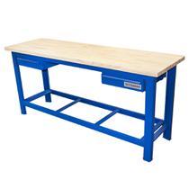 ade4ad0bda423 Bancada aberta com 02 gavetas e tampo de madeira pinus - RLL-210A (Azul