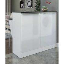 Bancada Balcão com prateleira/Divisor de ambientes Multimóveis 5484 Branca -