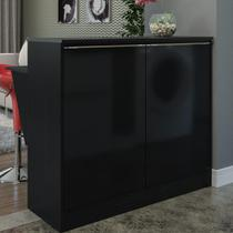 Bancada Balcão com prateleira/Divisor de ambientes Multimóveis Preto -