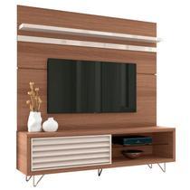 Bancada e Painel para TV até 70 Polegadas Venezza Nature/Off White - HB Móveis -