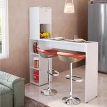 Bancada Gourmet II para Cozinha com Nichos - Branco - San Marino