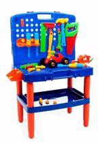 Bancada Maleta De Ferramentas Brinquedo Infantil Didático - Poliplac