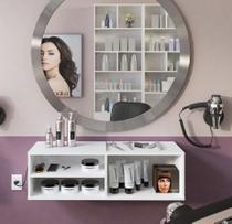 Bancada para Salão de Beleza com Nichos Organizadores - Clickforte