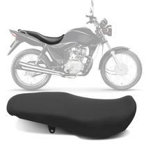 Banco Completo Moto Honda CG 125 CG 150 Fan Titan Mix 09 a 13 Courvin Piraval Preto -
