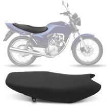 Banco Completo Moto Honda CG KS ES 2000 a 2008 Fan 2005 a 2008 Courvin Piraval Preto -