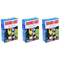 Band Aid Curativo Infantil Liga Da Justiça C/25 (Kit C/03) -