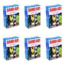 Band Aid Curativo Infantil Liga Da Justiça C/25 (Kit C/06) -