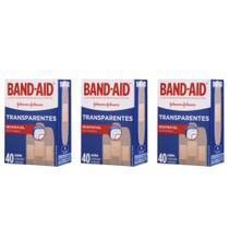 Band Aid Curativo Transparente C/40 (Kit C/03) -