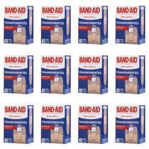 Band Aid Curativo Transparente C/40 (Kit C/12) -